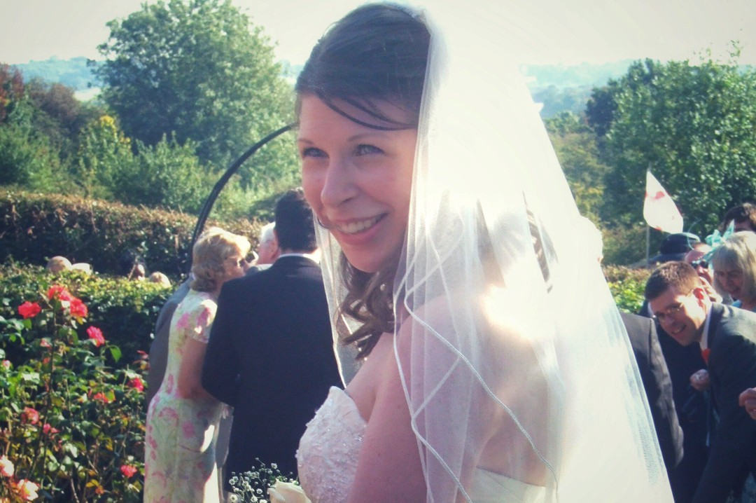 A photograph of a beautiful, happy and health woman on her wedding day - A letter to myself as I try to become healthier - Mrs H's favourite things