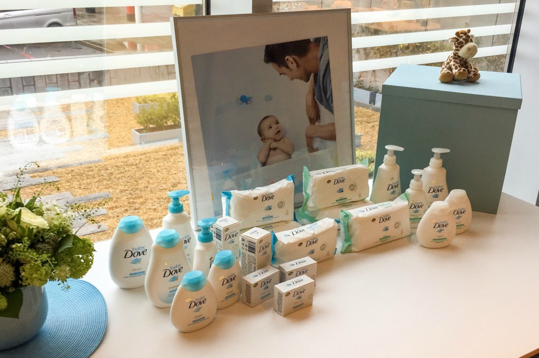 A photograph of the entire Baby Dove range - Baby Swimming Skin Care with Baby Dove - Mrs H's favourite things