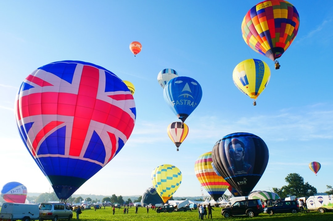A photograph of some of the hot air balloons at the Bristol International Balloon Fiesta - 7 Things To Do In Bristol - Mrs H's favourite things