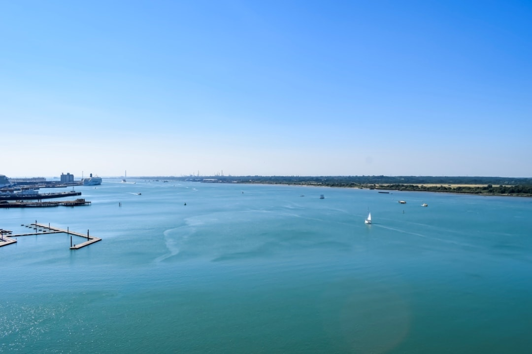 A photograph of the view from the top deck of the Royal Caribbean cruise ship Independence of the Seas on turnaround day in Southampton harbour - 10 Reasons Why A Royal Caribbean Cruise Would Make A Perfect Family Holiday - Mrs H's favourite things