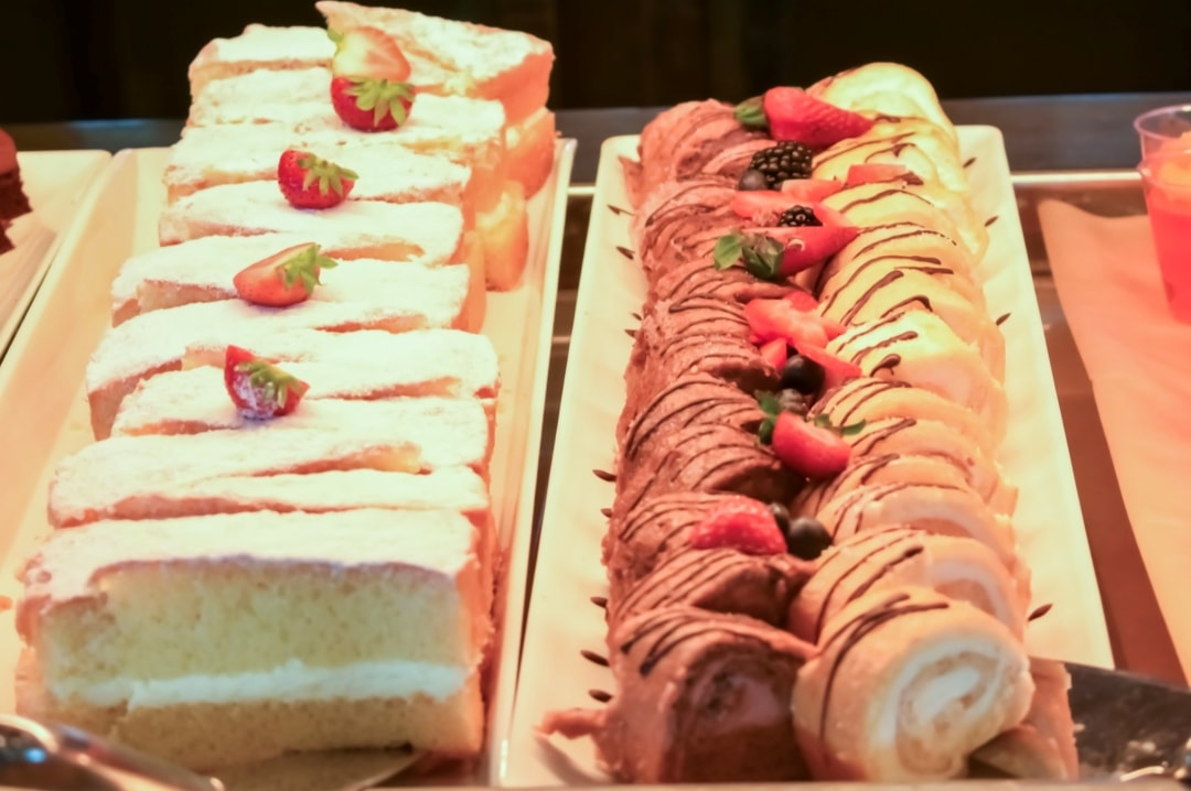 A photograph of some of the desserts at the Windjammer Marketplace restaurant onboard the Royal Caribbean cruise ship Independence Of The Seas - 10 Reasons Why A Royal Caribbean Cruise Would Make A Perfect Family Holiday - Mrs H's favourite things