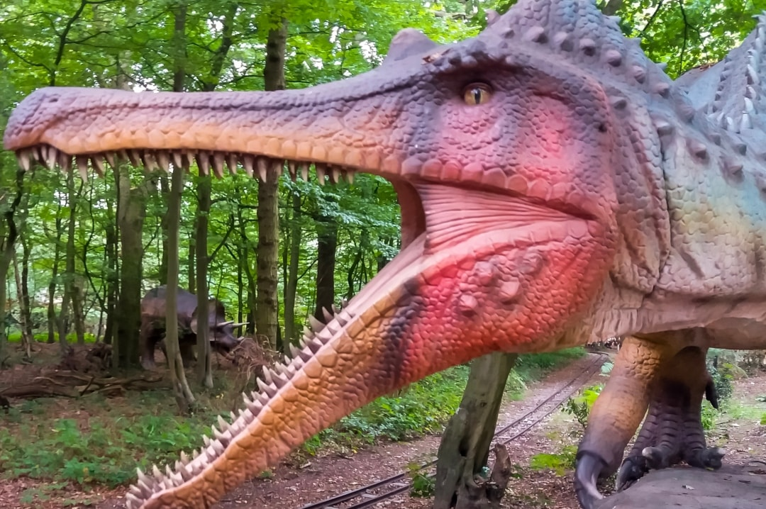 A photograph of an animatronic dinosaur from the World of Dinosaurs at Paradise Wildlife Park - Paradise Wildlife Park - A Review - Mrs H's favourite things