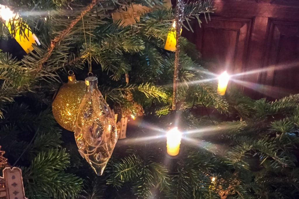 A photograph of Christmas decorations on a Christmas tree - The Christmas Tag - Mrs H's favourite things