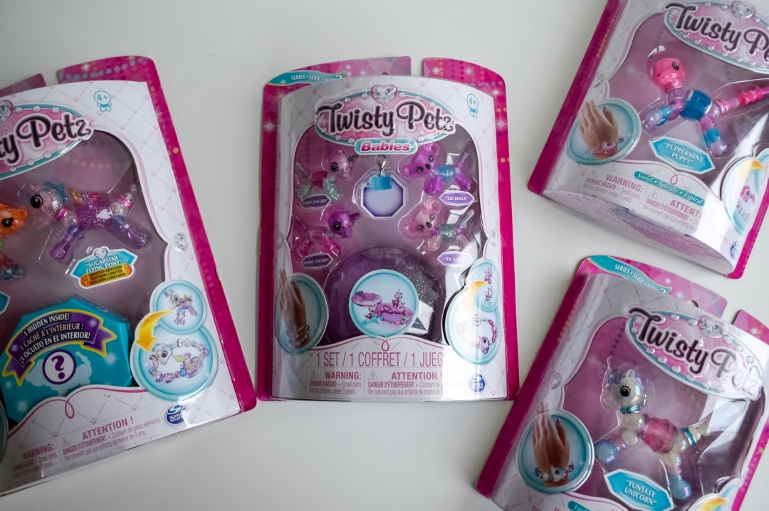 A photograph of 4 boxes of twisty Petz - Twisty Petz CollectAbles From Spin Master - A Review - Mrs H's favourite things