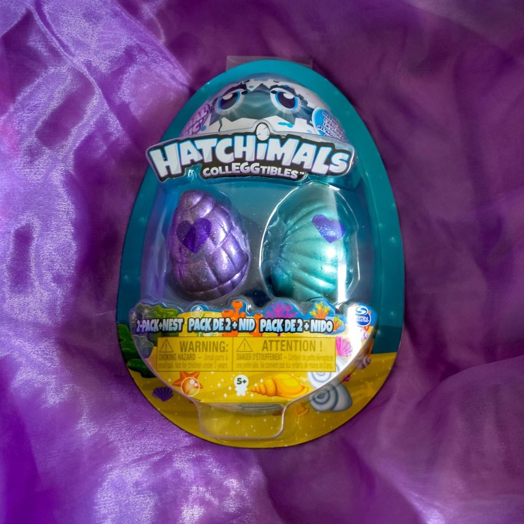 A photograph of a Hatchimals CollEGGtibles Mermal Magic Season 5 2-Pack And Nest - Hatchimals CollEGGtibles Mermal Magic Season 5 Review - Mrs H's favourite things