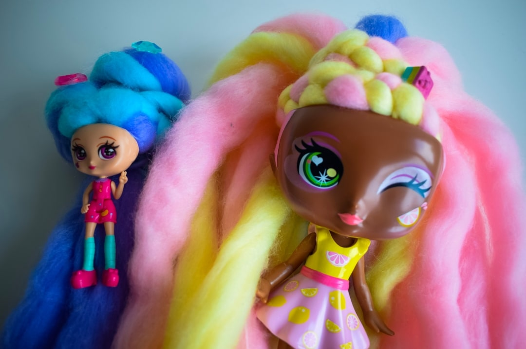 A photograph of two Candylocks Dolls - Introducing Candylocks Dolls - A Review - Mrs H's favourite things