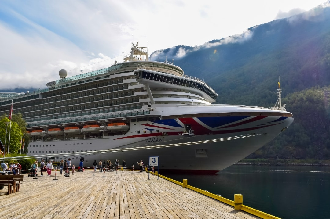 A photograph of the P&O Cruises ship Azura moored in Flam in Norway - Snapshots Of Our Summer - Mrs H's favourite things