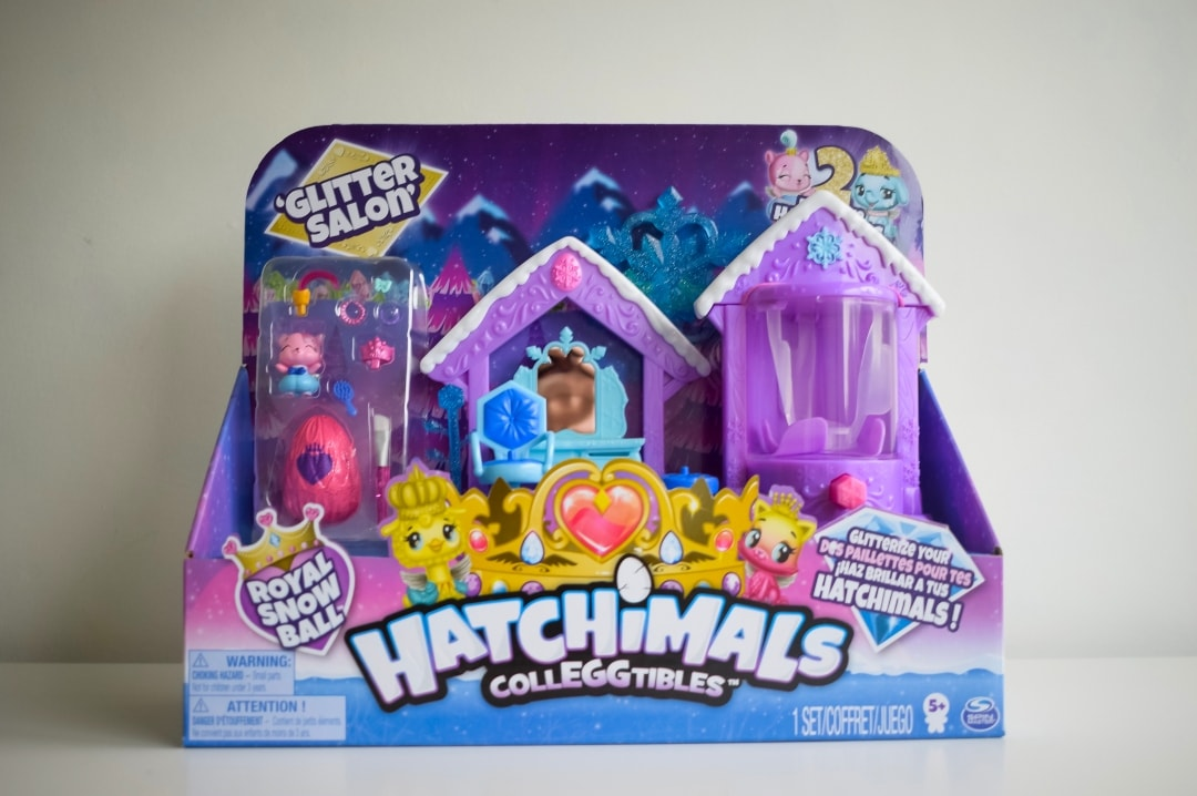 A photograph of the Hatchimals CollEGGtibles Glitter Salon Playset - Hatchimals CollEGGtibles Glitter Salon Playset - A Review - AD - Mrs H's favourite things