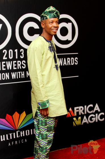 Best Actor in Comedy winner Hafiz Oyetoro at AMVCA 2013