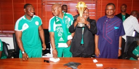 Guiness Nigeria and Lagos state Governor host The Super Eagles