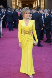 Jane Fonda in Versace dress at the Oscars 2013