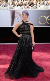 Kelly Osbourne in Tony Ward Couture dress at the Oscars 2013