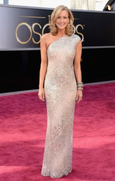 Lara Spencer in Kaufman franco dress at the Oscars 2013