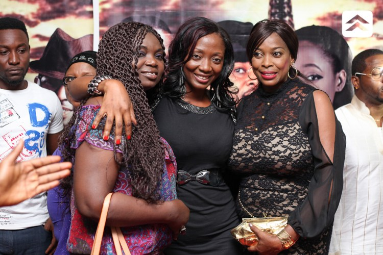 Moradeke Awe and other actresses at The Courier movie premiere