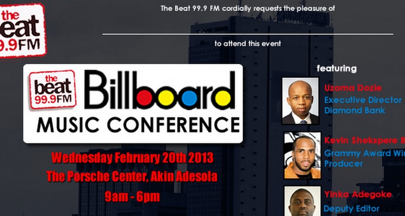 MH TODAY'S EVENT: SOCIAL MEDIA WEEK LAGOS: THE BEAT 99.9FM / BILLBOARD MUSIC CONFERENCE 2013