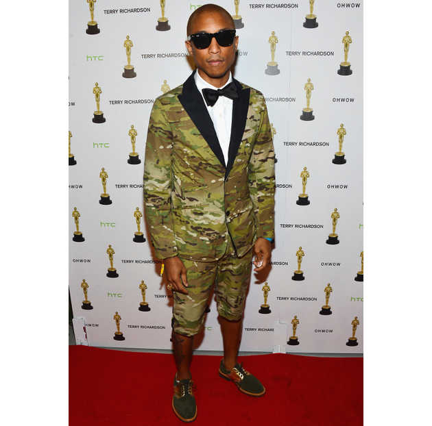 Pharrell Williams 2012 Camo Suit