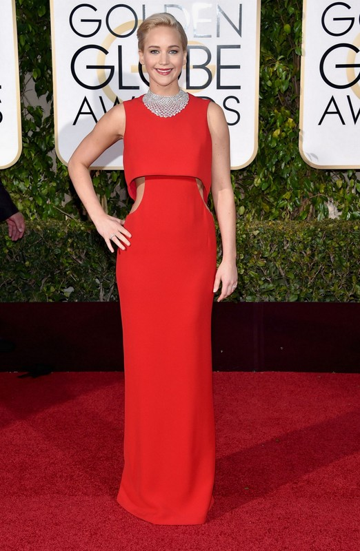 Jennifer Lawrence at Golden Globe Awards 2016