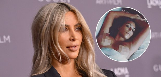 KIM KARDASHIAN CELEBRATES BODY BY POSING NAKED IN BED