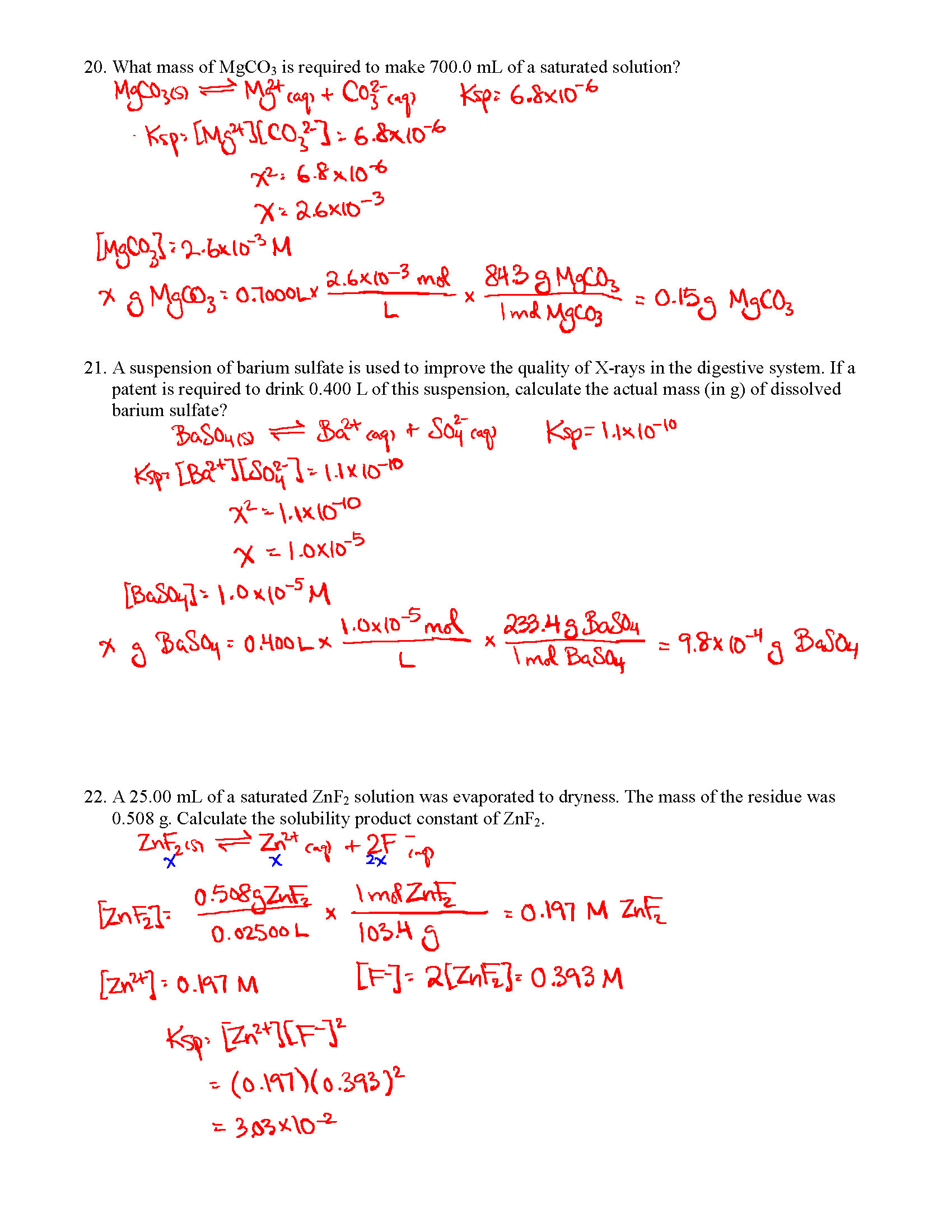 Chem 12 Midterm Review Package 2 Answers Units 3 And 4