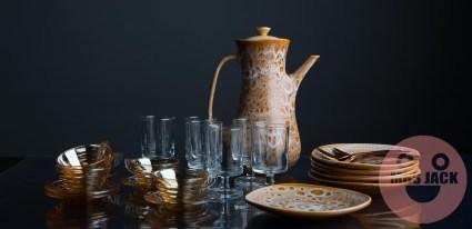 ceramics glass table