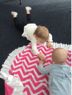 Tummy Time on the Airport Floor
