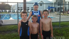 The Cook/Duncan boys are prepared for the YMCA kids triathlon.