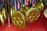 Homemade Olympic Gold Medals