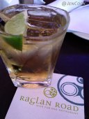 Drinking whiskey at Raglan Road.