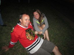 Jimmy & Katie waiting for fireworks.