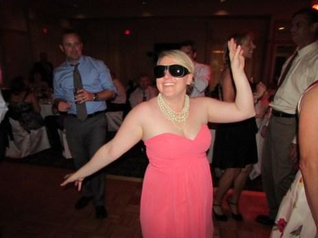 Kristy rocking Grandma's glasses!