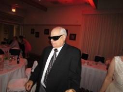 Pat rocking Grandma's Glasses.