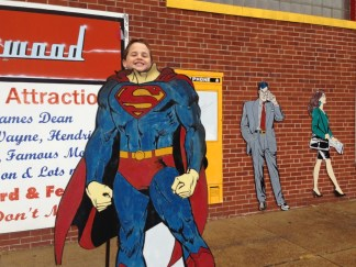 Visiting Superman in Metropolis, Illinois