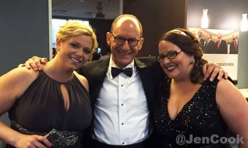 Steve Handelsman with Jen and Jackie