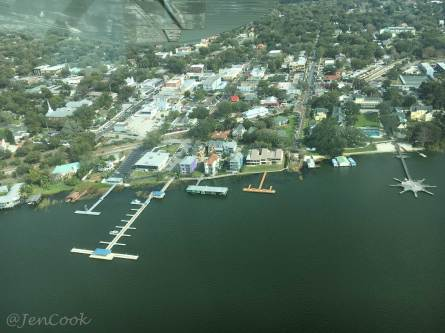 A look at Mt. Dora from the sky.