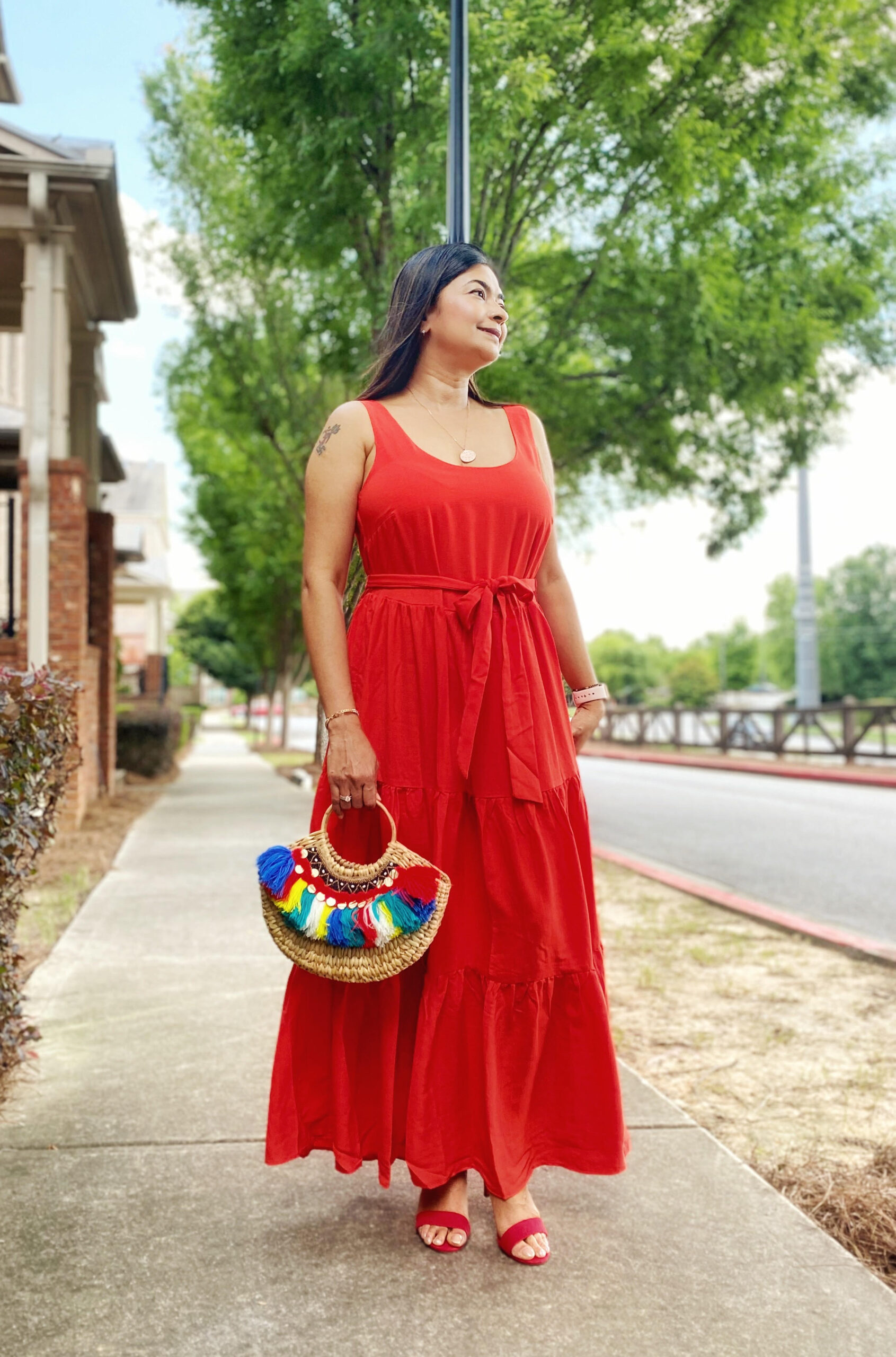 4th July Look - Red Maxi Dress