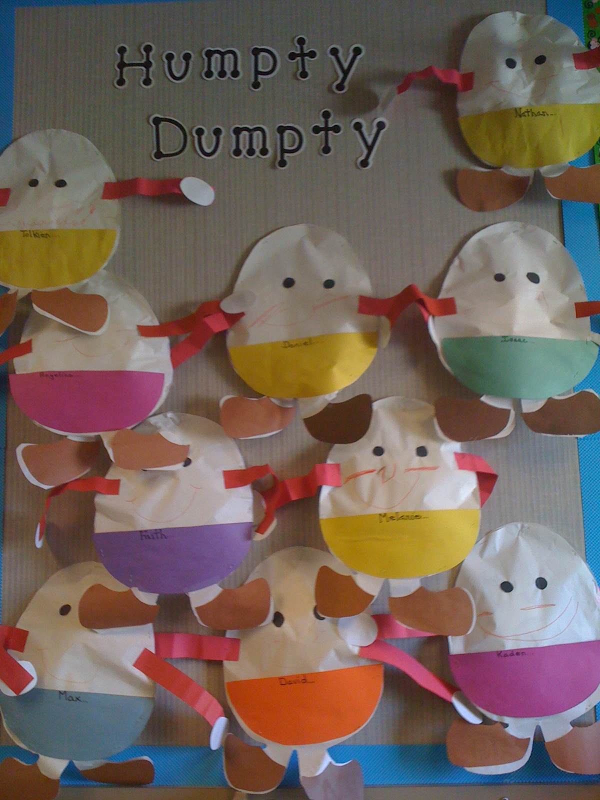 Humpty Dumpty Sat On A Wall Mrs Kilburn S Kiddos
