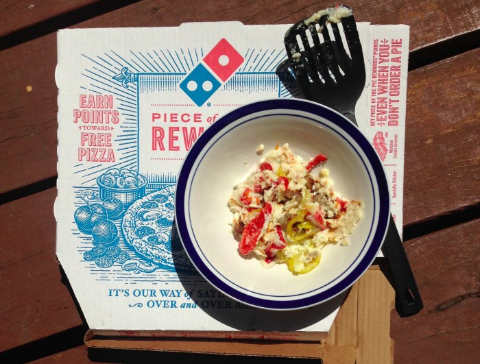 Low carb Domino's pizza toppings.