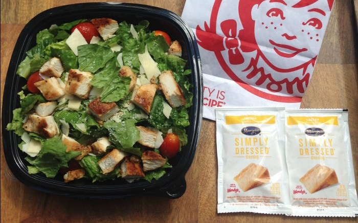 Low carb Wendy's Chicken Caesar Salad