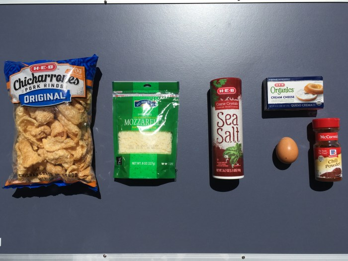 Ingredients for Keto Cheesy Chips