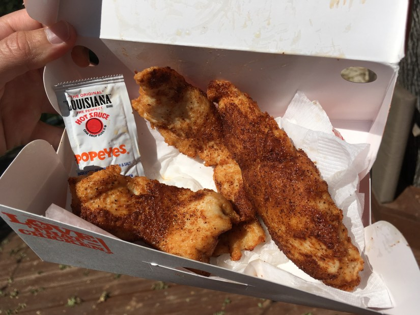 Popeyes Low Carb Handcrafted Blackened Chicken Tenders