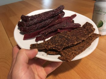Keto Beef Jerky Plated