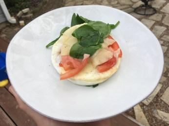 Turkey Sausage, Egg White & Spinach Sandwich (No Bagel) Plated