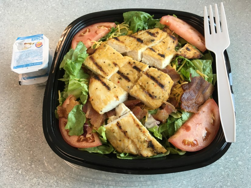 Low Carb Burger King Grilled Chicken Club Salad
