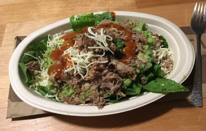 Low Carb Chipotle Carnitas Salad