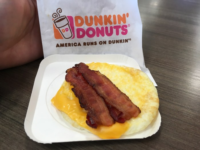 Low Carb Dunkin Donuts Bacon Egg and Cheese