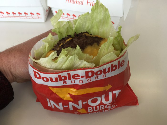 Low Carb In-N-Out Double Double Protein Style Burger