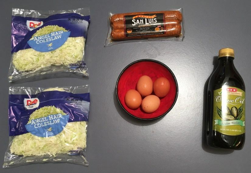 Keto Chow Mein Ingredients