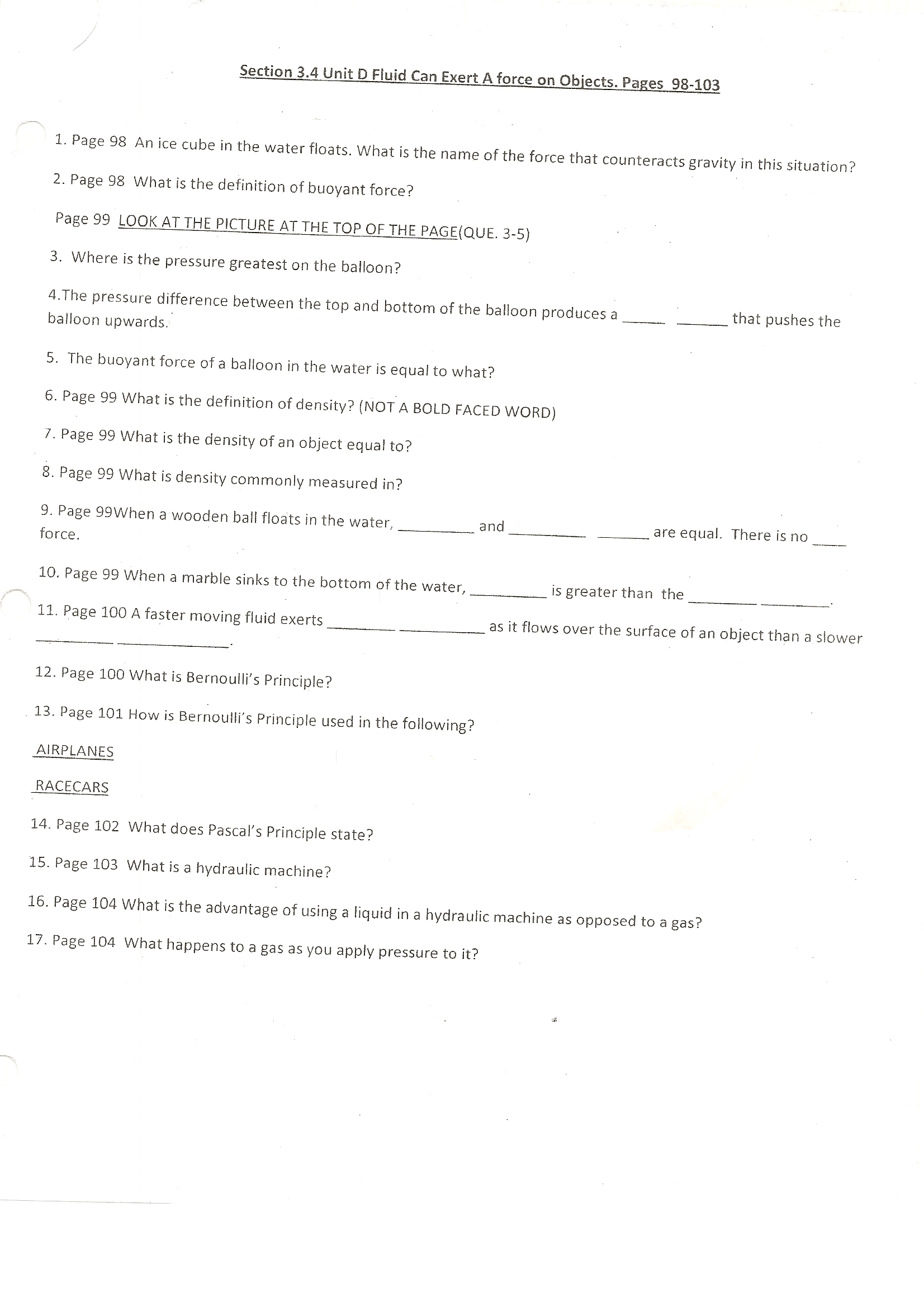 Newton S Second Law Of Motion Worksheet Quizlet