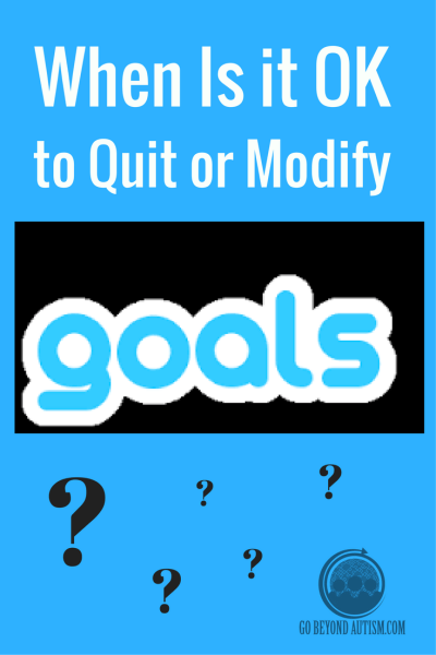 Modifying Goals