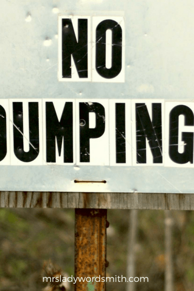 No Dumping: A Lesson on How We Treat Others